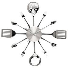 Kitchen Present Modern Kitchen Present Time Silverware Utensils Steel Large 58cm