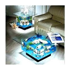 decoration round aquarium coffee table center fish tank r for cocktail
