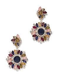 goldtone faux stone drop earring new york company