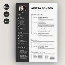 Resume Template Indesign Free Download 28 Minimal Creative Resume