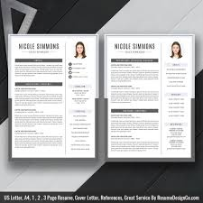 2 Page Cv Template 2020 Ms Word Resume Template Cover Letter And References Templates Resume Fonts And Icons Resume Editing Guide Digital Instant Download The
