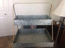 smith hawken galvanized metal 2 tier