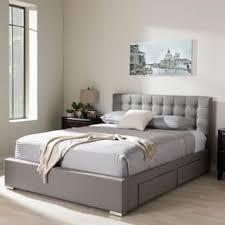 king size platform bed with drawers. Modren Platform Baxton Studio Adonis Modern And Contemporary Grey Fabric 4drawer King Size  Storage Platform Bed Inside With Drawers A