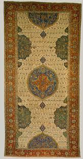 ushak medallion carpet on white ground