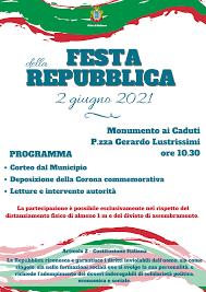 Festa della Repubblica 2021 | 2 Giugno a Subiaco - Città di Subiaco : Città  di Subiaco