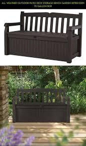 all weather outdoor patio deck storage bench garden keter eden