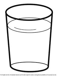 Glass Template Water Glass Drink A Glass Of Water Drinks Coloring Pages