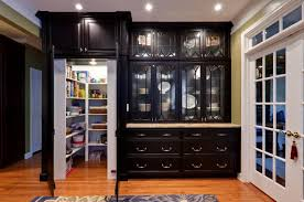 Oak Kitchen Pantry Cabinet Kitchen Oak Pantry Cabinet And Barstools With Kitchen Island