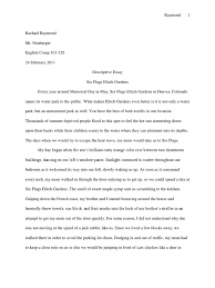 descriptive essay six flags foods nature