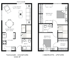 small house 2 bedroom floor plans image from post small condo plans with small house design
