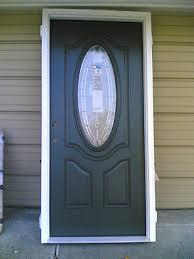 new elegant home 36 x80 fiberglass exterior door w oval glass