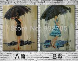 aliexpress buy free shipping abstract 100 oil painting on canvas wall art home decoration umbrella girl from reliable umbrella bin suppliers on  on girl with umbrella wall art with aliexpress buy free shipping abstract 100 oil painting on