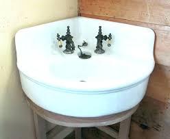 vintage corner sink retro pedestal antique sinks bathroom intended for canada