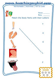 Match The Body Parts With The First Letter Of Their Name Archives ...