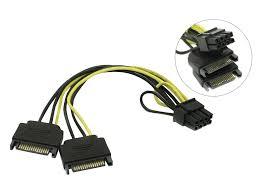<b>Переходники питания</b> для видеокарты SATA to 6 pin купить в ...