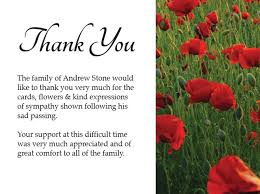 Thank You Notes For Funeral Flowers Example Pictures Reference ...