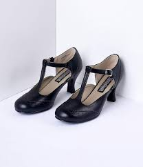 1920s style shoes black t strap mary jane kitten heels shoes 58 00 at vinedancer