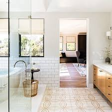 How To Clean Bathroom Floor Delectable White Bathrooms Just Feel Cleaner A Buff Motif On The Concrete