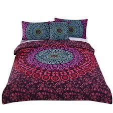 sleepwish 4 pcs mandala bedding posture million romantic soft bedclothes plain twill boho bohemian duvet cover
