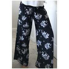 Designer Pants Silky Designed Pants One Size Fits All At Amazon Womens