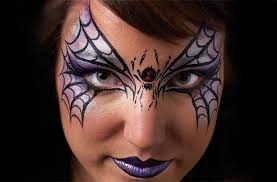 spider mask face paint