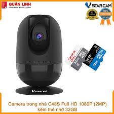 Camera giám sát Wifi IP hồng ngoại ban đêm Vstarcam C48s Full HD 1080P  (2MP) kèm thẻ 32GB, Giá tháng 11/2020