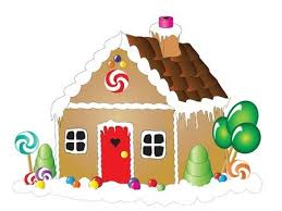 gingerbread house clipart background. Delighful Clipart Vector  Illustration Of A Gingerbread House Against White Background Intended Gingerbread House Clipart Background