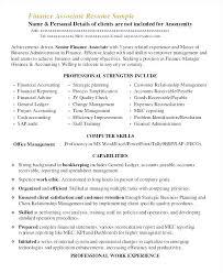 Sample Financial Associate Resume Finance Assistant Resume Audit