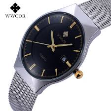 watches for skinny wrists promotion shop for promotional watches top luxury brand wwoor men s watches stainless steel quartz men wrist watch ultra thin fashion casual men waterproof wristwatch