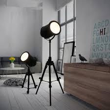 vintage loft black tripod floor lamp for living room retro free lifting standing lamp bedside floor light fixtures in floor lamps from lights