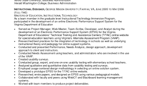 Instructional Systems Designer Cover Letter Clinical Trials