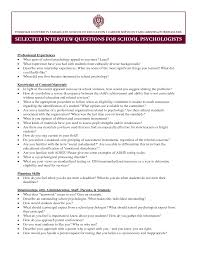Resume Example School Psychologist Resume Sample School