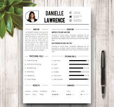 Modern Creative Resume Example Modern Resume Template Templates Creative Market Mockup Free Job