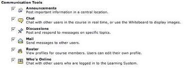 a critical examination of blackboard s e learning environment figure 3 blackboard ce 6 communication tools