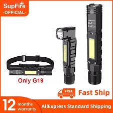 Mới Supfire G19 Di Động Đèn LED + COB Đèn Pin Có Nam Châm USB Sạc Tốt Nhất  Cho Câu Cá Cắm Trại Làm Việc Ánh Sáng Mạnh Mẽ Đèn Pin /