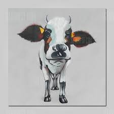 mintura mt160710 hand painted cow canvas oil painting