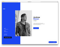 Resume Website Template 100 Best HTML100 vCard and Resume Templates For Your Personal Online 4