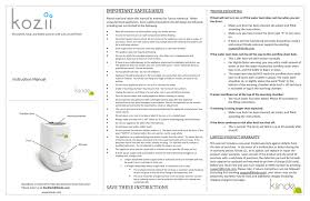 Kozii Instruction Manual V3