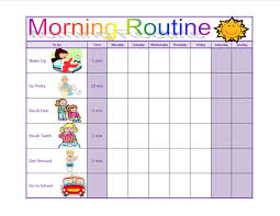 Morning Routine Chart For 5 Year Old Morning Routine For Your Child Like How You Can Keep Track