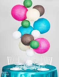 diy paper lantern chandelier smarty had a party