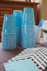 Light Blue Solo Cups Blue Solo Cups Made Clean Up A Breeze 18th Birthday