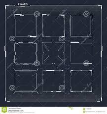 Sci Fi Chart Sci Fi Hud Ui Square Frames Stock Vector Illustration Of