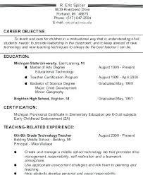 Example Resumes For Teachers Teachers Resume Objectives Art Teacher Resume Teacher Resume