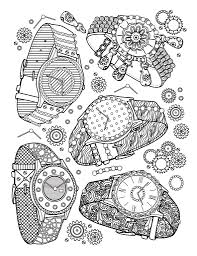 Watches A Page From The Best Jewelry Adult Coloring Book Coloring Book For Grown Up L