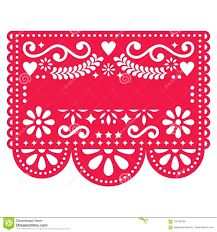 Papel Picado Designs For Day Of The Dead Mexican Papel Picado Template Design Traditional Red