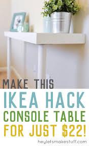 simple ikea narrow console table