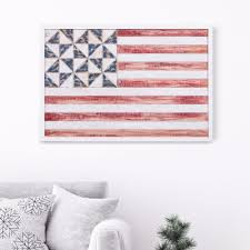 small american flag framed wall art rustic patriotic stars stripes wall decor united states country flags