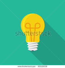 vector square blue icon lighting bulb. Vector Square Blue Icon Lighting Bulb