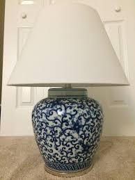 ralph lauren home mandarin blue fl ginger jar porcelain table lamp brand new