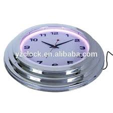 18 inch wall clock inch large chrome neon clock la crosse technology 18 atomic outdoor wall